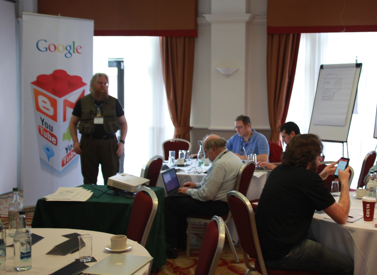 The Google Team presenting to a large workshop